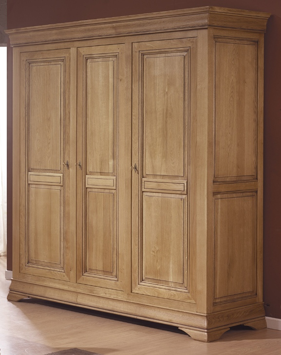 armoire 3 portes clovis meubles turone. Black Bedroom Furniture Sets. Home Design Ideas