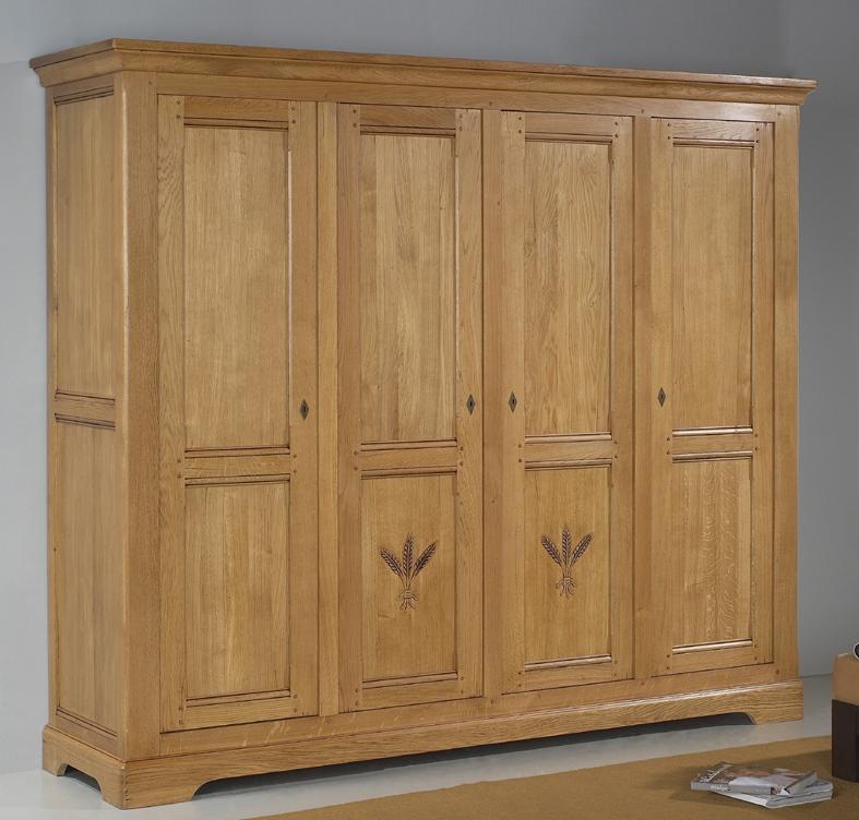 armoire 4 portes marcillac meubles turone. Black Bedroom Furniture Sets. Home Design Ideas
