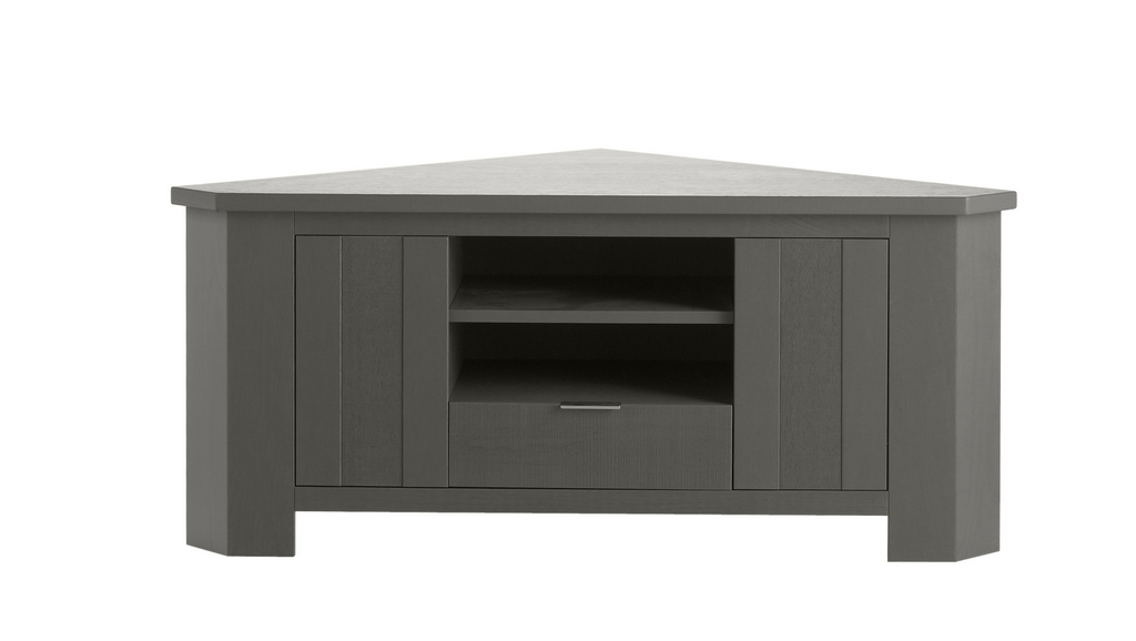 meuble tv d 39 angle gris cendr fantaisie meubles turone. Black Bedroom Furniture Sets. Home Design Ideas