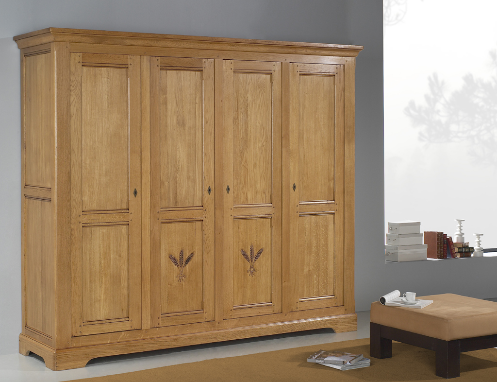 armoire 4 portes marcillac meubles turone. Black Bedroom Furniture Sets. Home Design Ideas