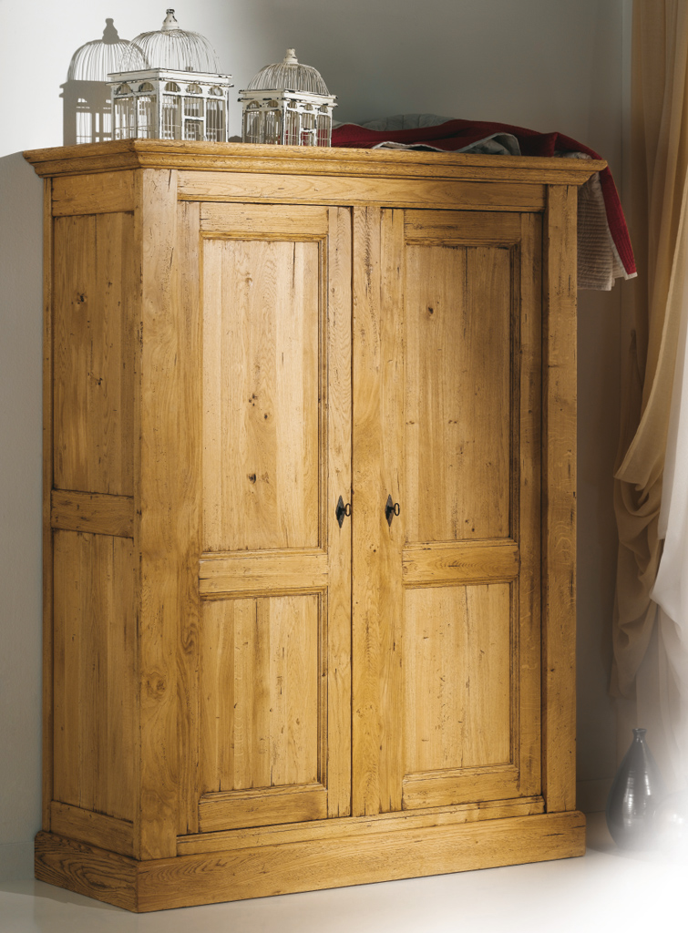 armoire de chambre 2 portes noyant meubles turone. Black Bedroom Furniture Sets. Home Design Ideas