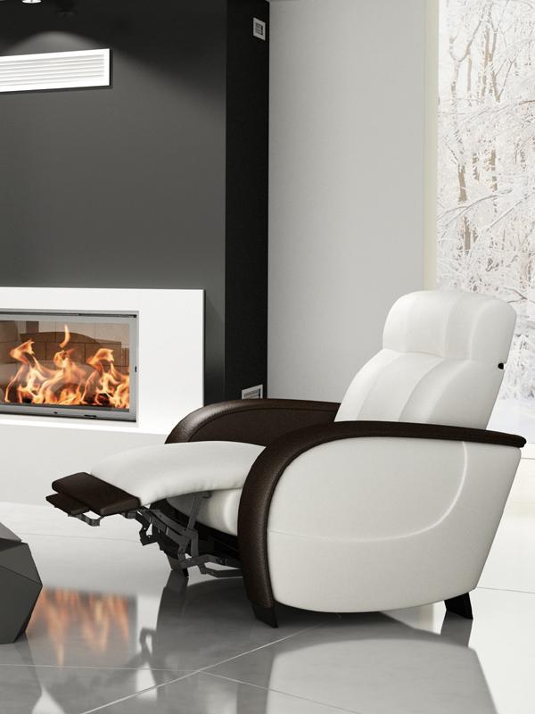 Fauteuil relax en cuir fanie meubles turone - Fauteuil relax cuir blanc ...