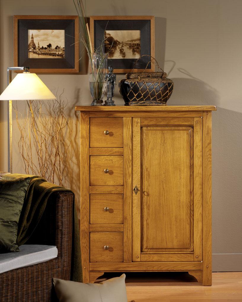 Meuble 1 porte et 4 tiroirs meubles turone for Meuble porte four