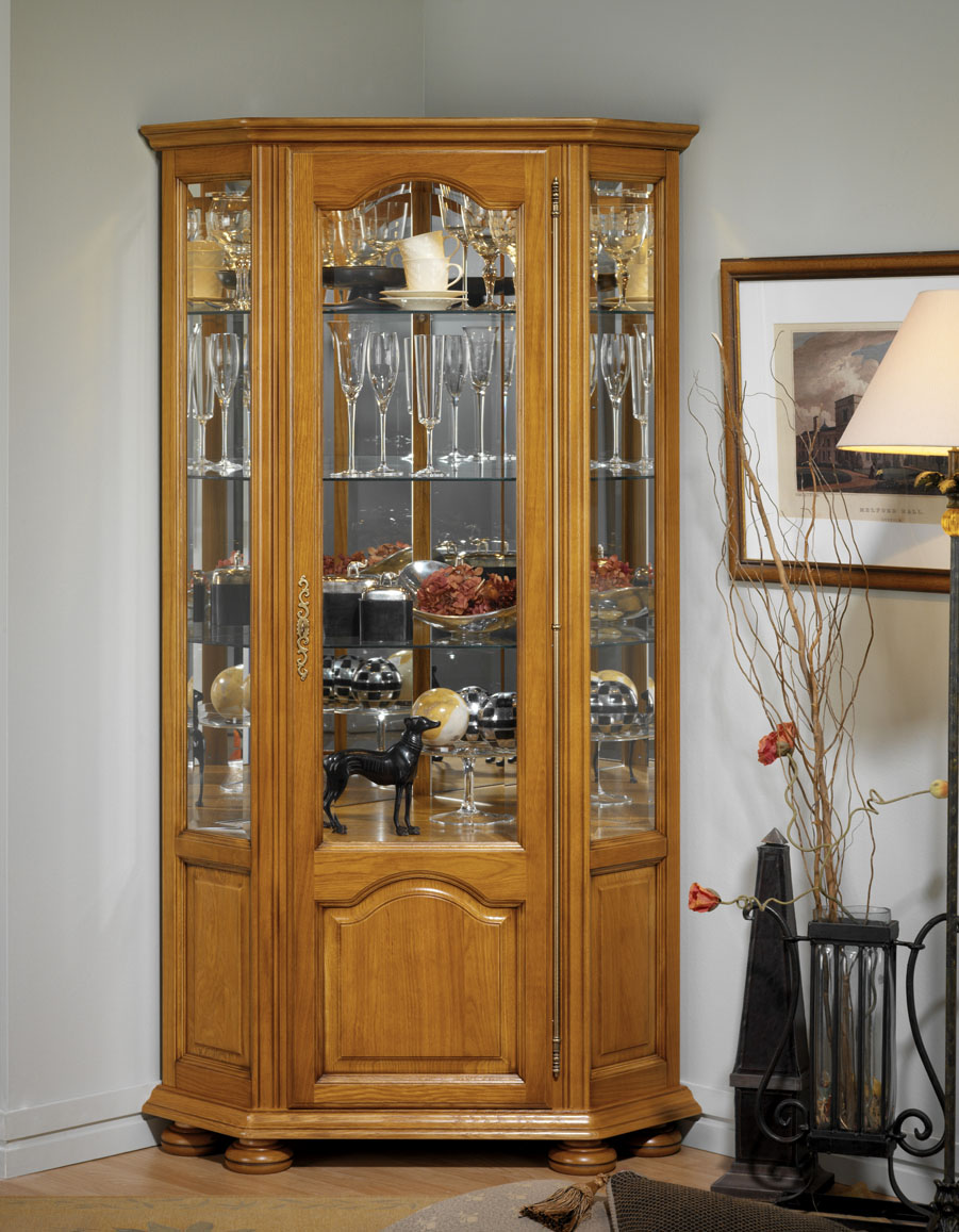 Vitrine d 39 angle grand mod le meubles turone - Grand meuble d angle ...
