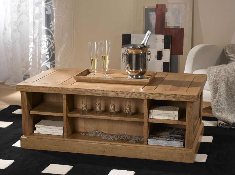 table basse bar avec plateau meubles turone. Black Bedroom Furniture Sets. Home Design Ideas