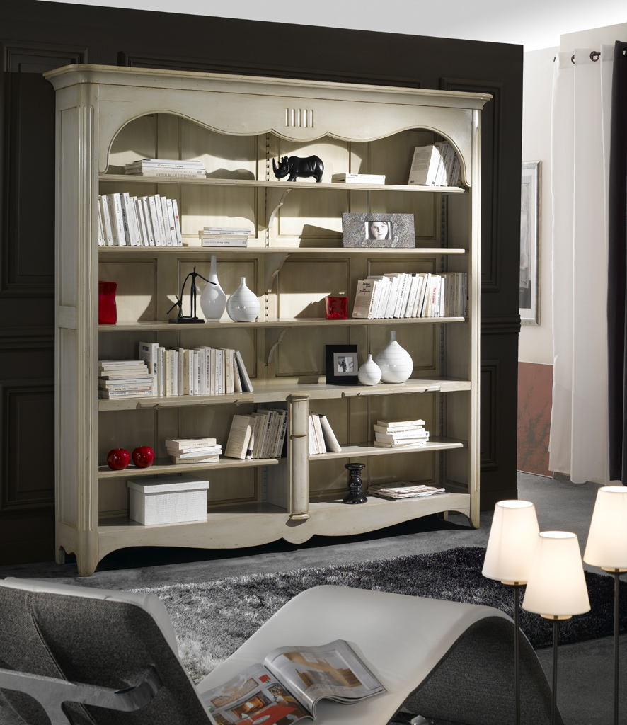 biblioth que ouverte meubles turone. Black Bedroom Furniture Sets. Home Design Ideas