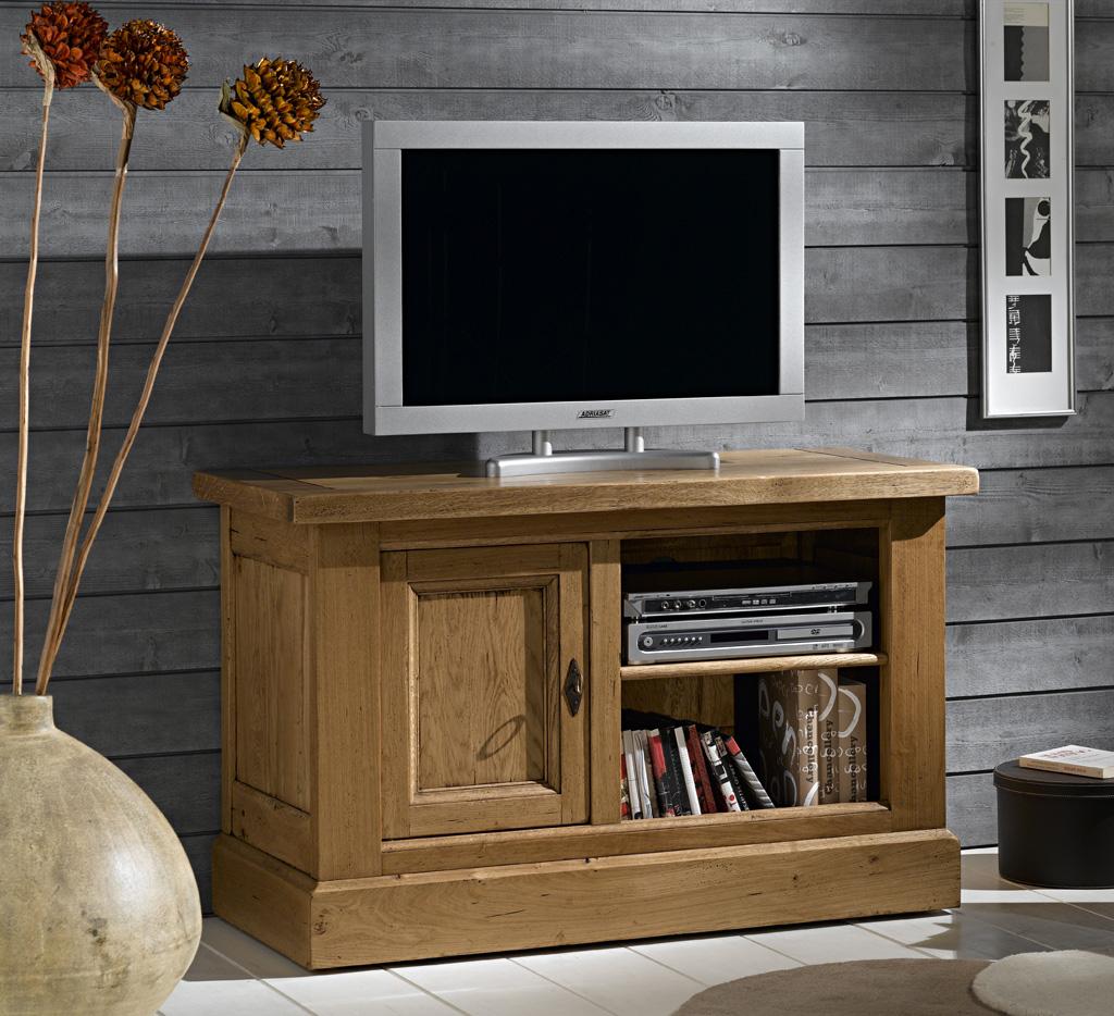 meuble tv bas ch ne rustique noyant meubles turone. Black Bedroom Furniture Sets. Home Design Ideas