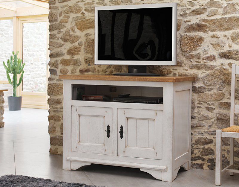 Meuble hifi 2 portes 1 niche meubles turone for Meuble turone