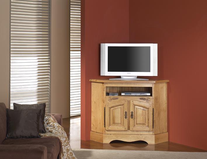 Meuble tv dangle en chêne Cevennes — Meubles Turone -> Meuble Tv Angle Chene