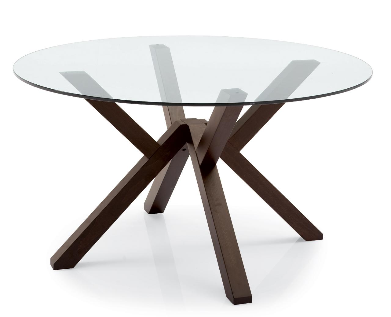 Table ronde plateau verre giulia meubles turone - Table ronde plateau verre ...