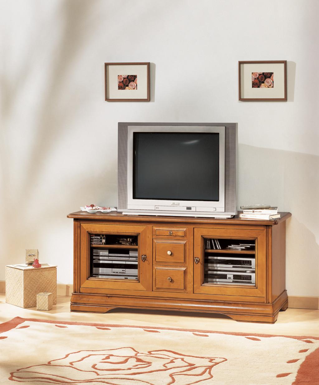 Meuble Tv Merisier Massif En 130 Meubles Turone # Meuble Tv En Merisier Massif