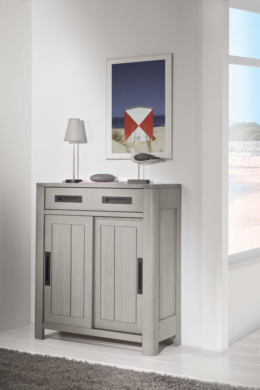 meuble d 39 entr e 2 portes en bois massif meubles turone. Black Bedroom Furniture Sets. Home Design Ideas