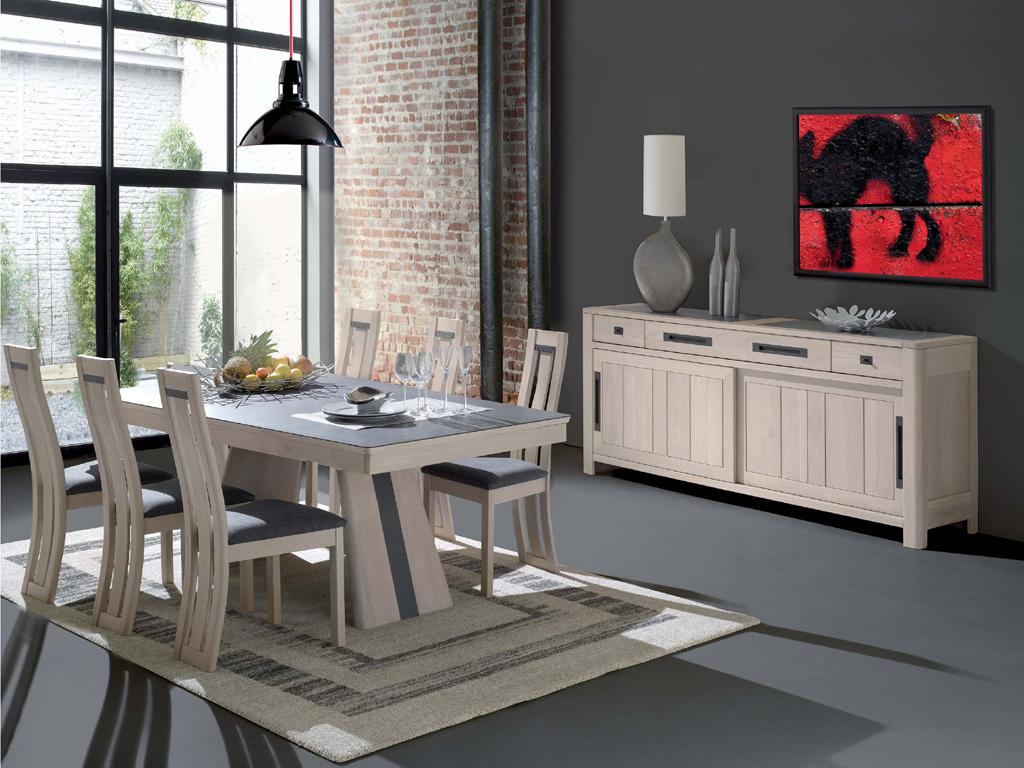 Salle à manger complete  Table chaise Vitrine Bahut