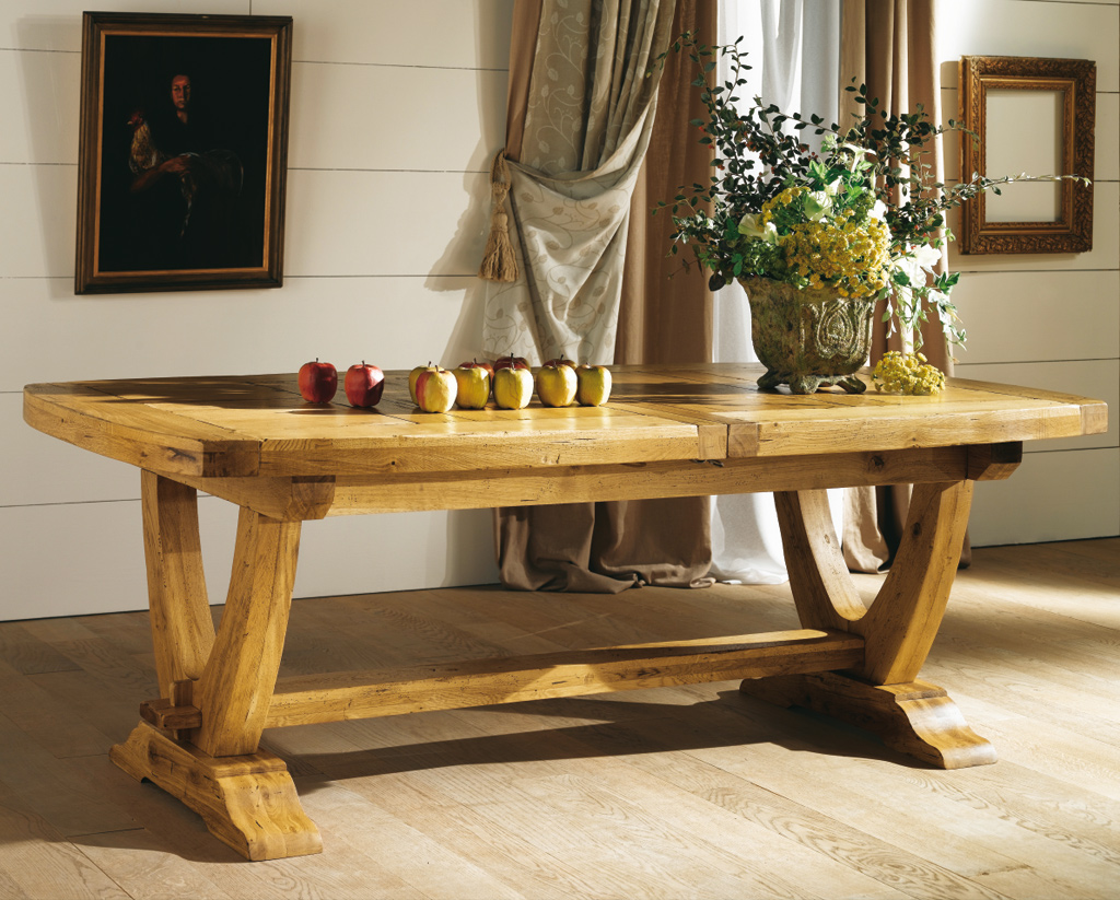 Table en ch ne monast re meubles turone - Ceruser une table en chene ...