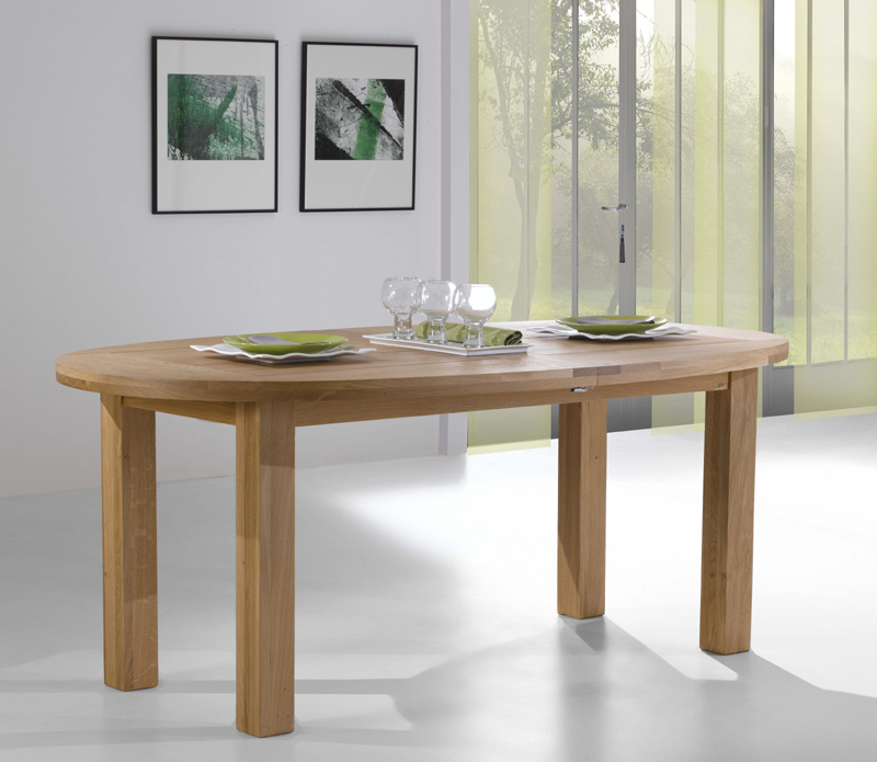 Table ovale en ch ne alicia meubles turone for Table sejour