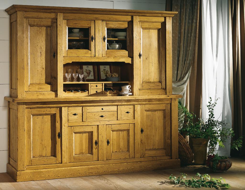 vaisselier de ferme 2 corps 4 portes noyant meubles turone. Black Bedroom Furniture Sets. Home Design Ideas