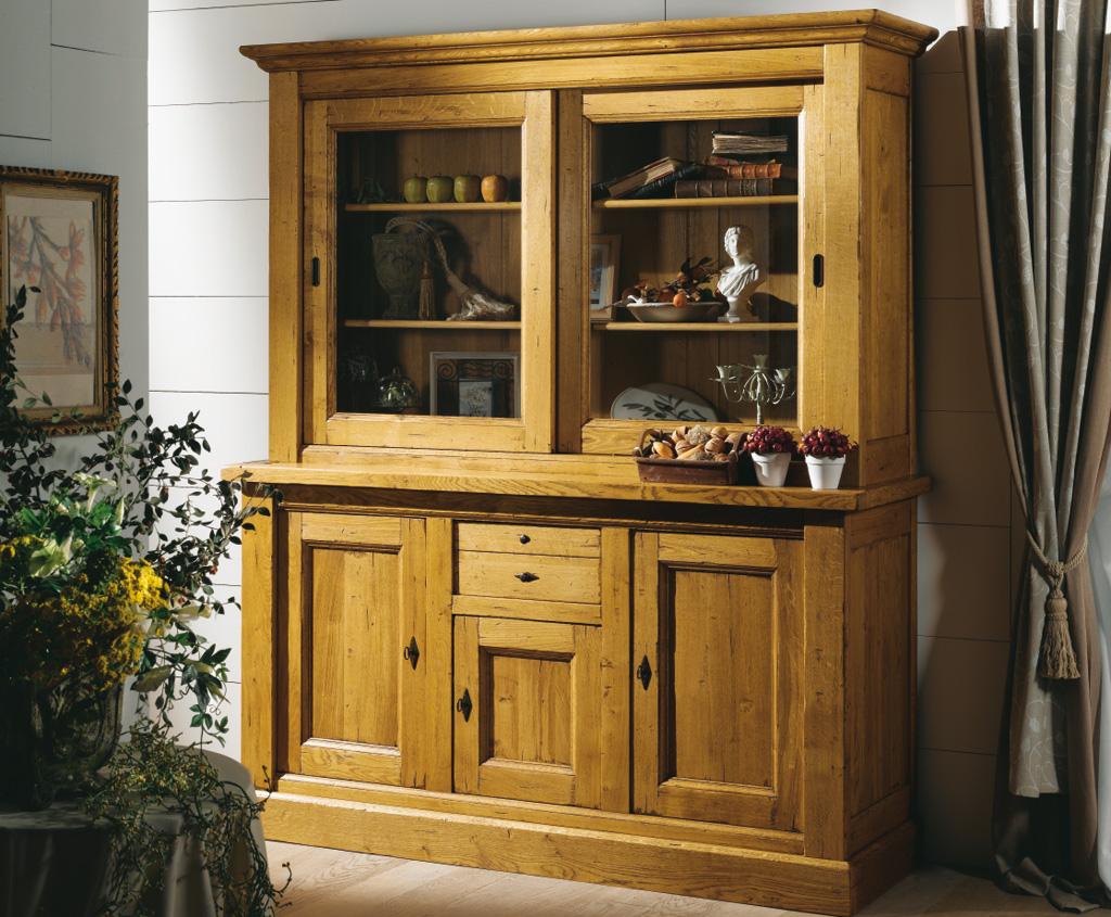 Vaisselier meuble 2 corps 3 portes noyant meubles turone for Meuble vaisselier