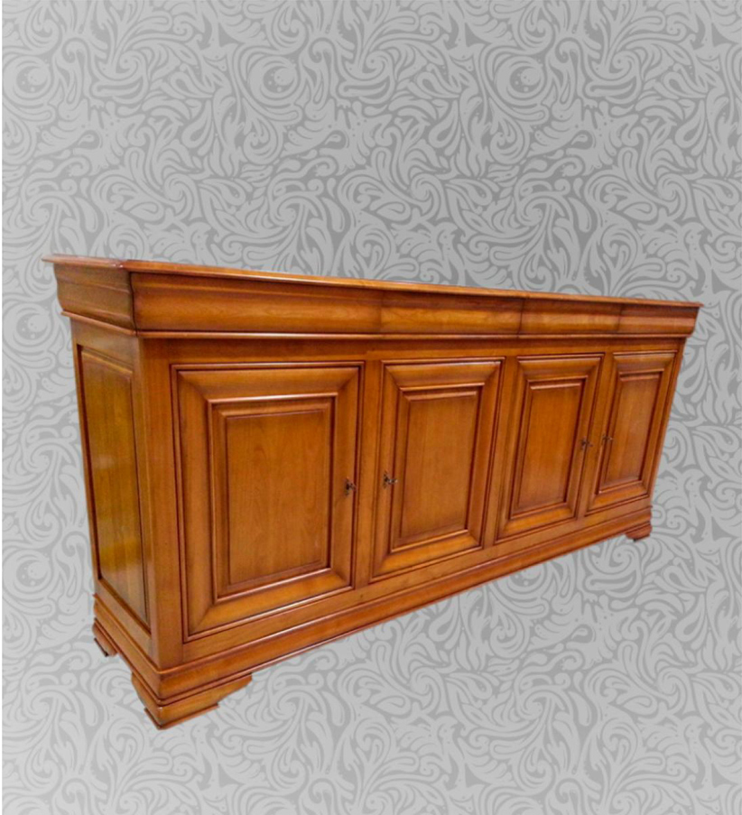 Buffet en merisier 4 portes 4 tiroirs am lie meubles turone - Enfilade merisier 4 portes ...