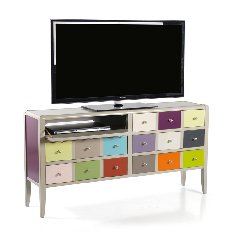 Meuble tv rainbow meubles turone for Meuble turone