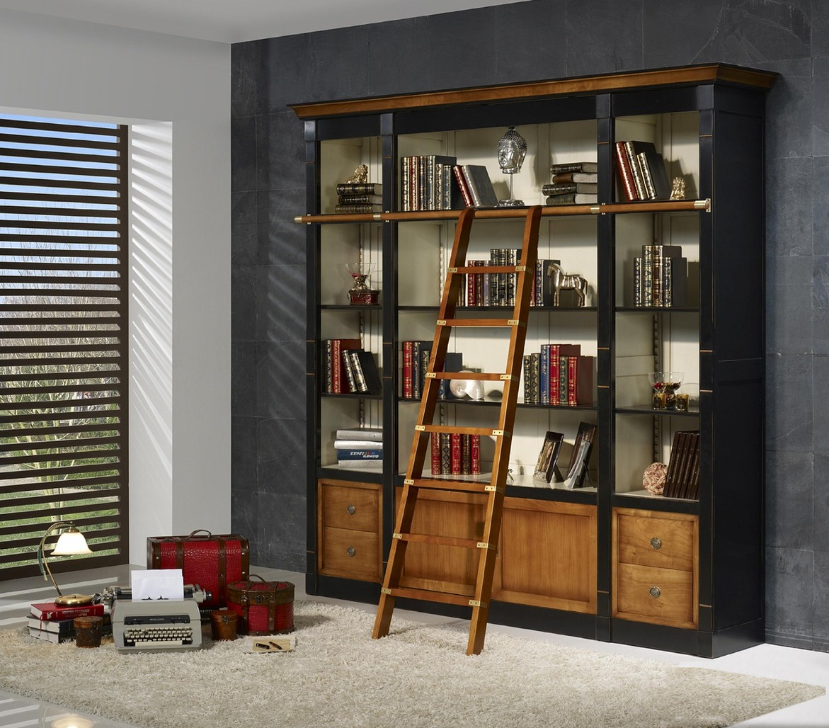 biblioth que en merisier h loise meubles turone. Black Bedroom Furniture Sets. Home Design Ideas