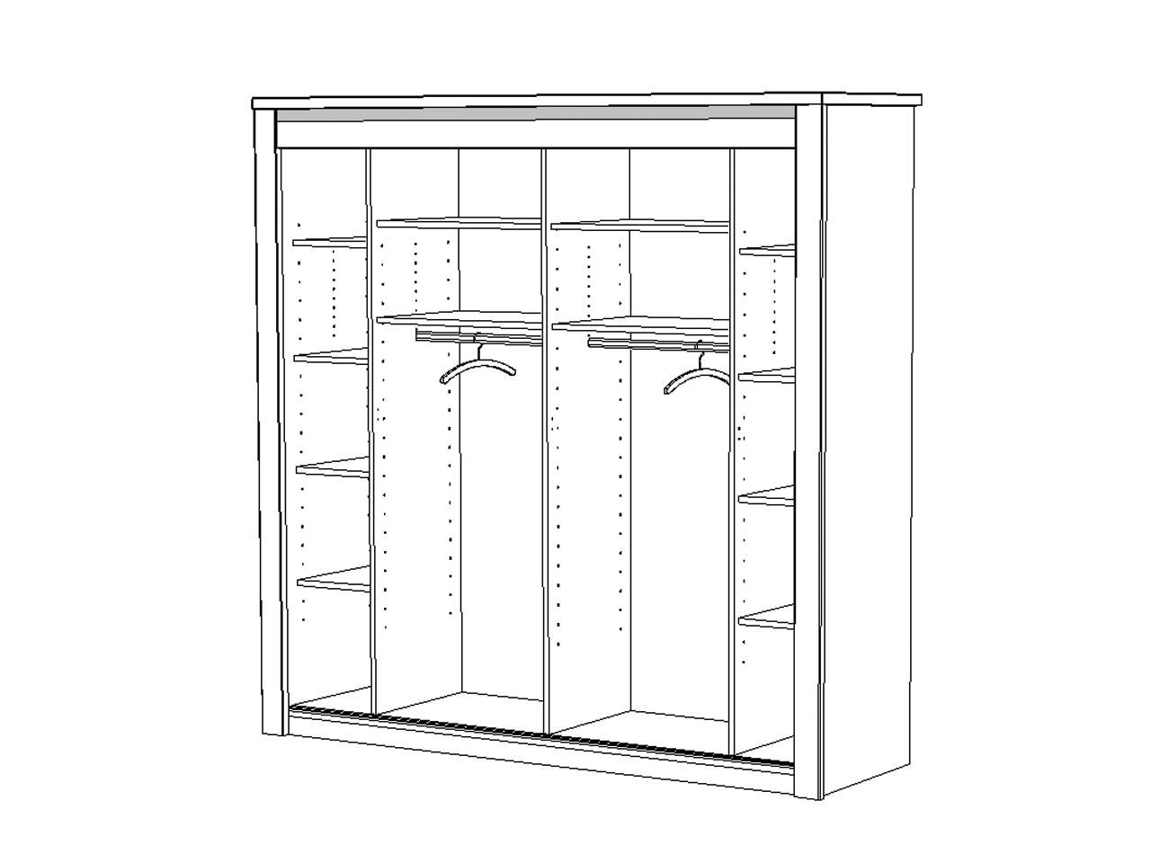 Armoire glace oc ane meubles turone - Dimension porte chambre ...