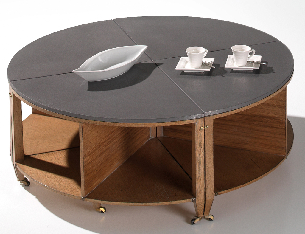 Table basse verre sur roulettes - Tables basses rondes ...