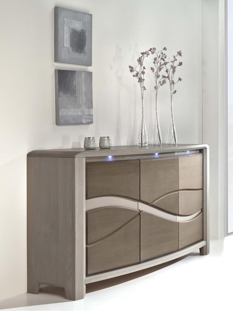 Buffet 3 portes en ch ne massif de france meubles turone for Armoire chene massif 3 portes
