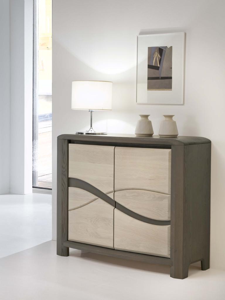 Petit meuble contemporain 2 portes meubles turone for Petit meuble une porte