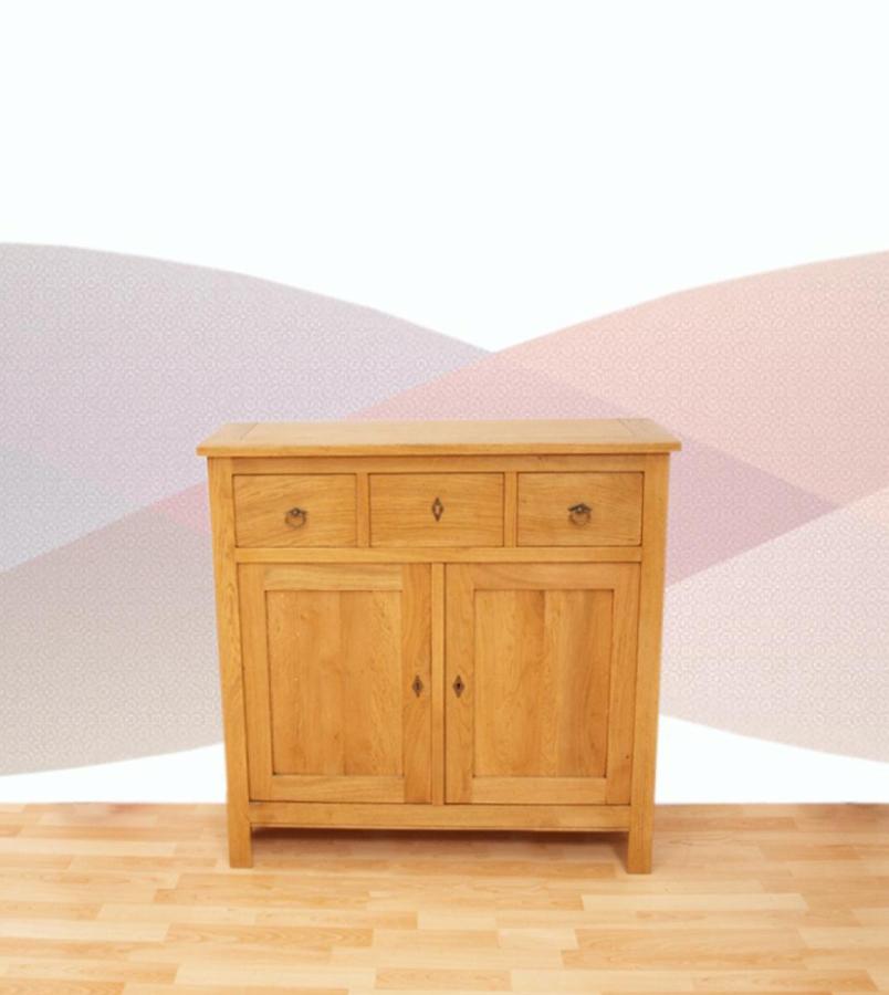 Petit meuble buffet bois 2 portes meubles turone for Petit meuble une porte