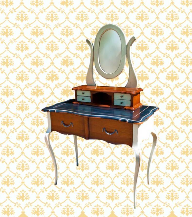 Coiffeuse avec miroir meubles turone for Coiffeuse meuble avec miroir