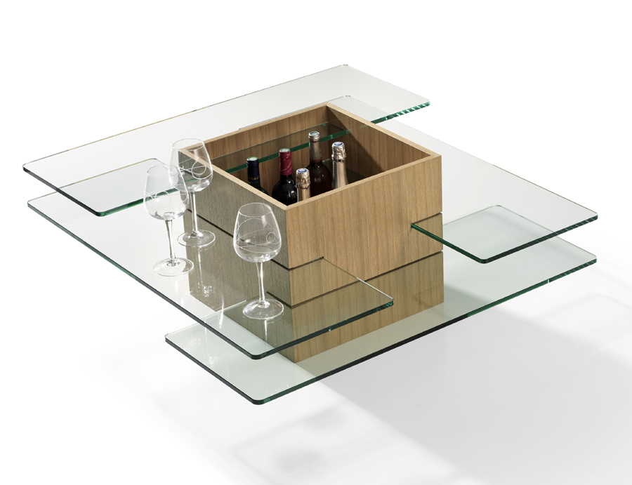 Table basse bar carr e design calixte meubles turone - Table basse bar design ...