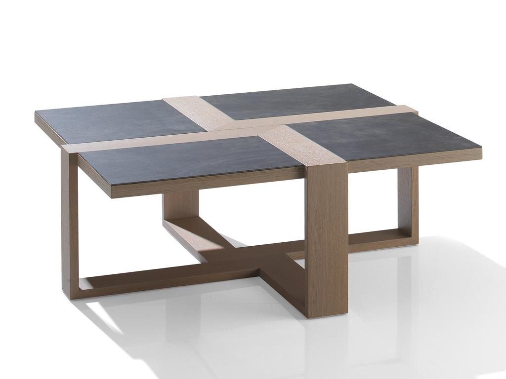 table basse ch ne et c ramique carr e m lodie meubles turone. Black Bedroom Furniture Sets. Home Design Ideas