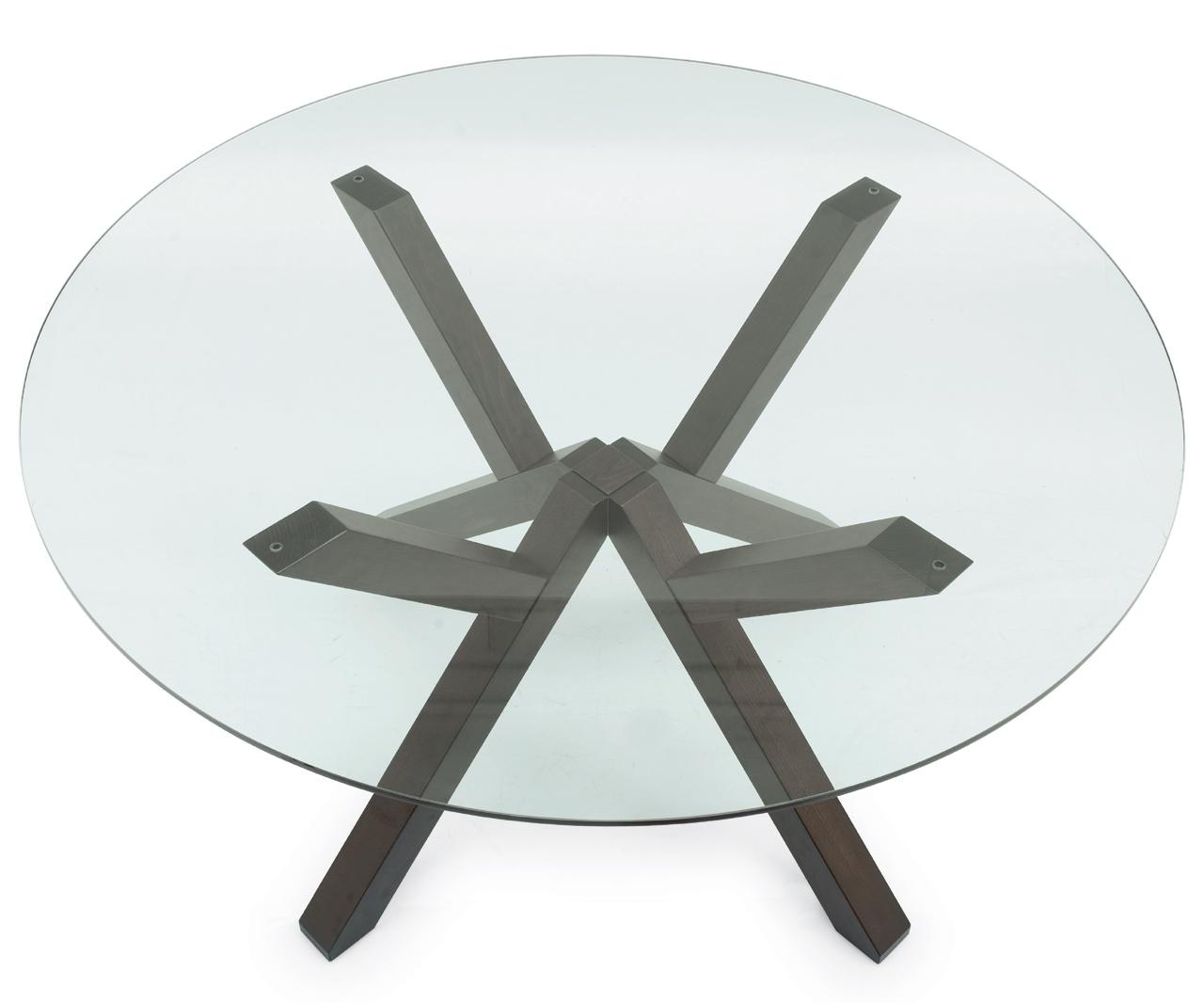 Table ronde plateau verre giulia meubles turone - Plateau verre pour table ronde ...